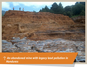 An abandoned mine with legacy lead pollution
