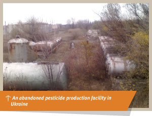Abandoned pesticide production facility in Ukraine