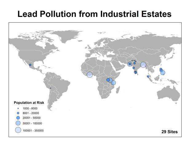 Lead Pollution Map
